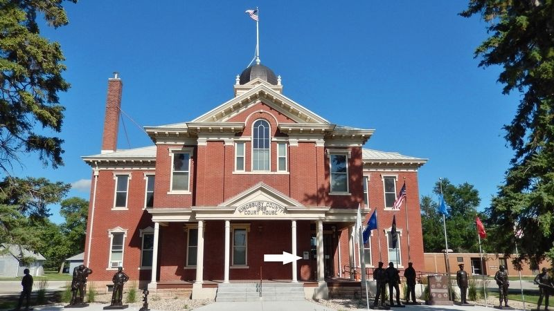 Kingsbury County Courthouse (<i>wide view; marker visible near front entrance</i>) image. Click for full size.