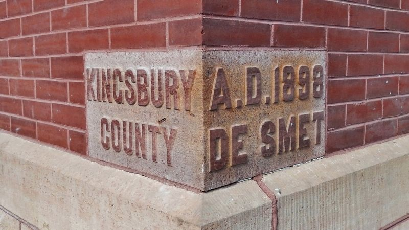 Kingsbury County Courthouse Cornerstone image. Click for full size.