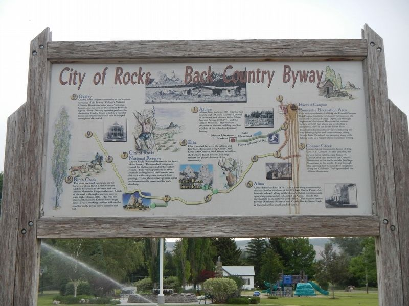 City of Rocks Back Country Byway image. Click for full size.