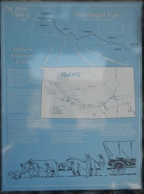 Idaho's Emigrant Trail panel image. Click for full size.