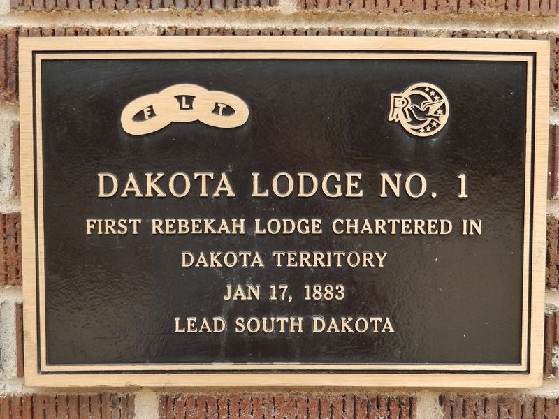 Dakota Rebekah Lodge Marker image. Click for full size.