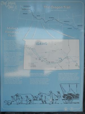 Idaho's Emigrant Trails panel image. Click for full size.
