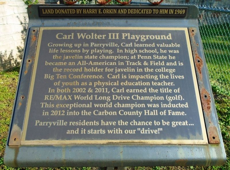 Carl Wolter III Playground Marker image. Click for full size.