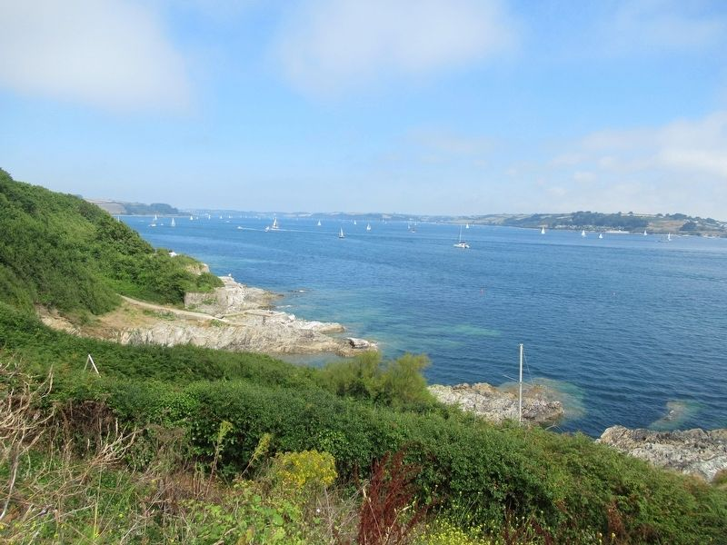 Crab Quay at Pendennis Point and Falmouth Sound image. Click for full size.