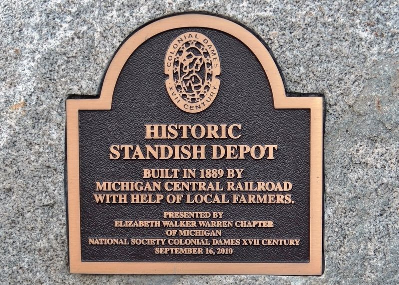Historic Standish Depot Marker image. Click for full size.