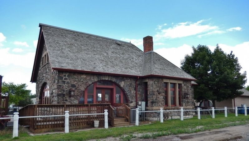 Historic Standish Depot (<i>back side - facing railroad tracks</i>) image. Click for full size.