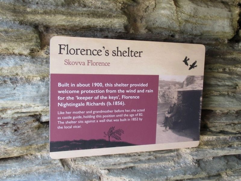 Florence's shelter Marker image. Click for full size.
