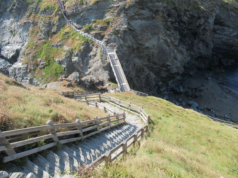 Steep Steps to Tintagel Castle image. Click for full size.