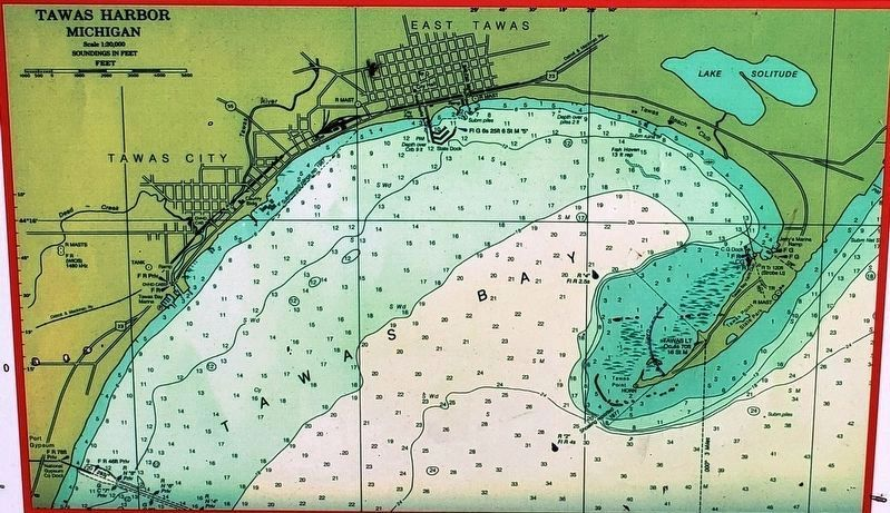 Marker detail: Nautical Chart, Tawas Point, 1997 image. Click for full size.