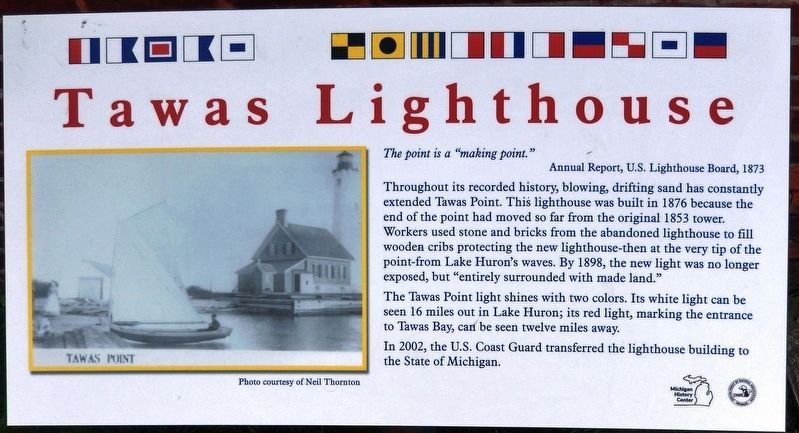 Tawas Lighthouse Marker image. Click for full size.