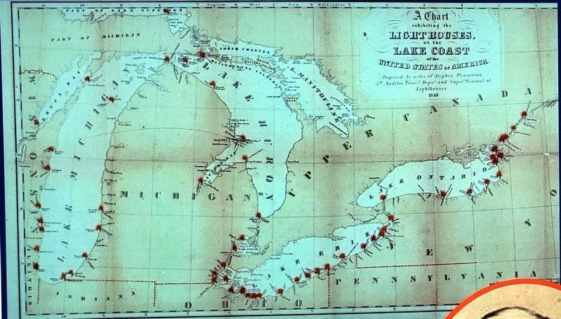 Marker detail: 1848 Map of the Great Lakes image. Click for full size.