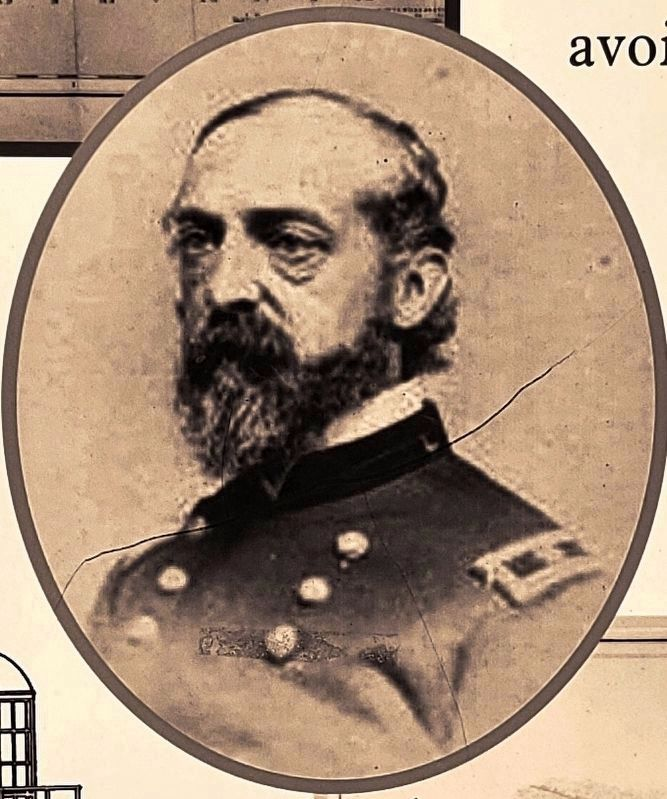 Marker detail: Captain George Gordon Meade image. Click for full size.