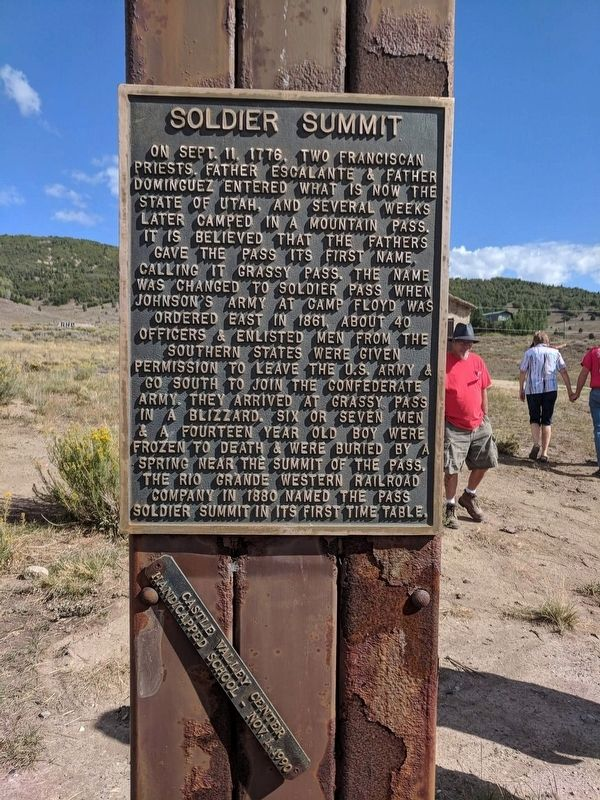 Soldier Summit Marker image. Click for full size.