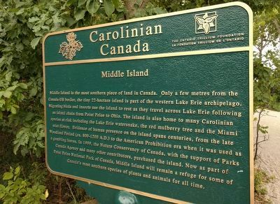 Carolinian Canada: Middle Island Marker image. Click for full size.