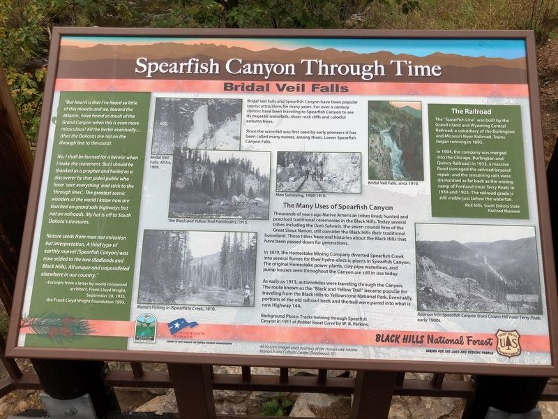 Spearfish Canyon Through Time Marker image. Click for full size.