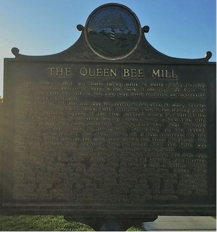 The Queen Bee Mill Marker image. Click for full size.