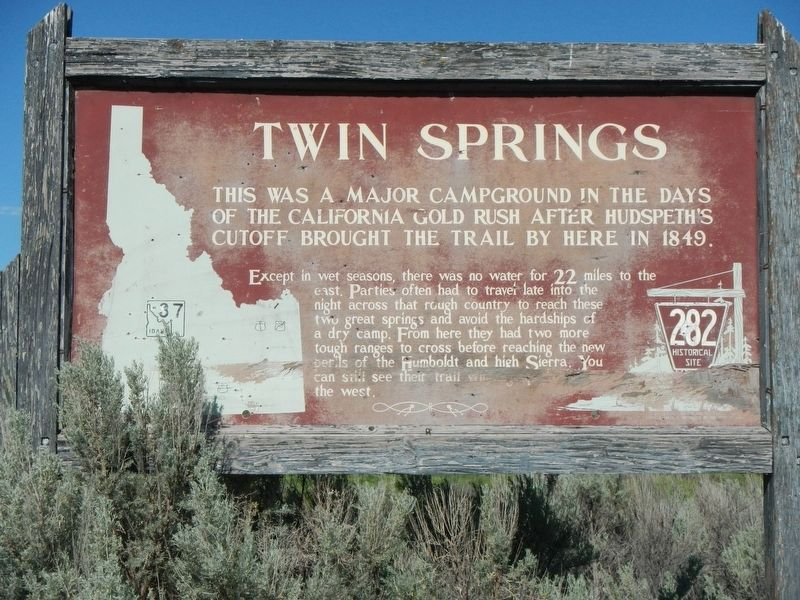 Twin Springs Marker image. Click for full size.