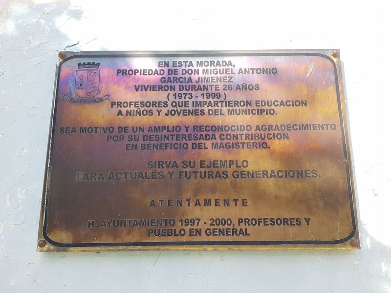 Teachers of Polotitlán Marker image. Click for full size.