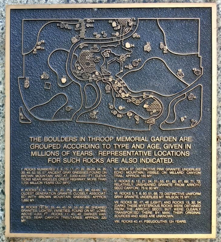 Throop Garden Marker, Right Panel image. Click for full size.
