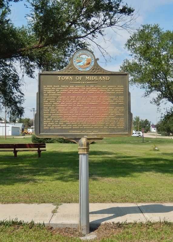 Town of Midland Marker (<i>tall view</i>) image. Click for full size.