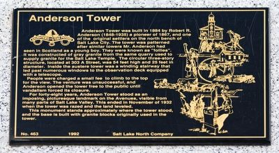 Anderson Tower Marker image. Click for full size.