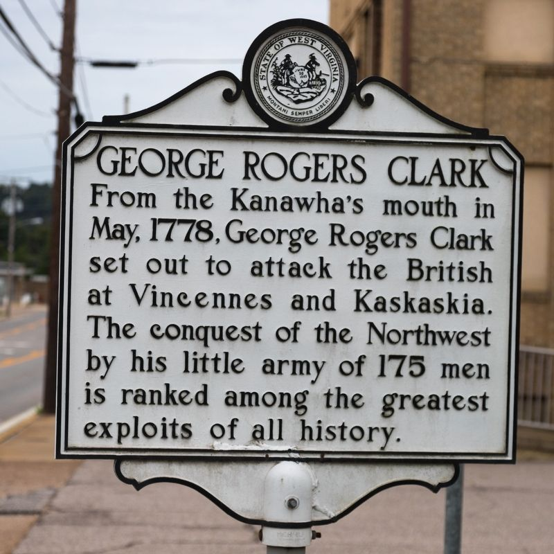 Image result for mason county wv historical markers george rogers clark""