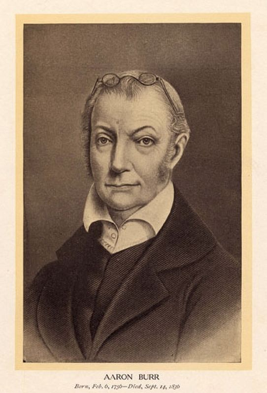 Aaron Burr (1756-1837)<br>Vice President of the United States image. Click for full size.