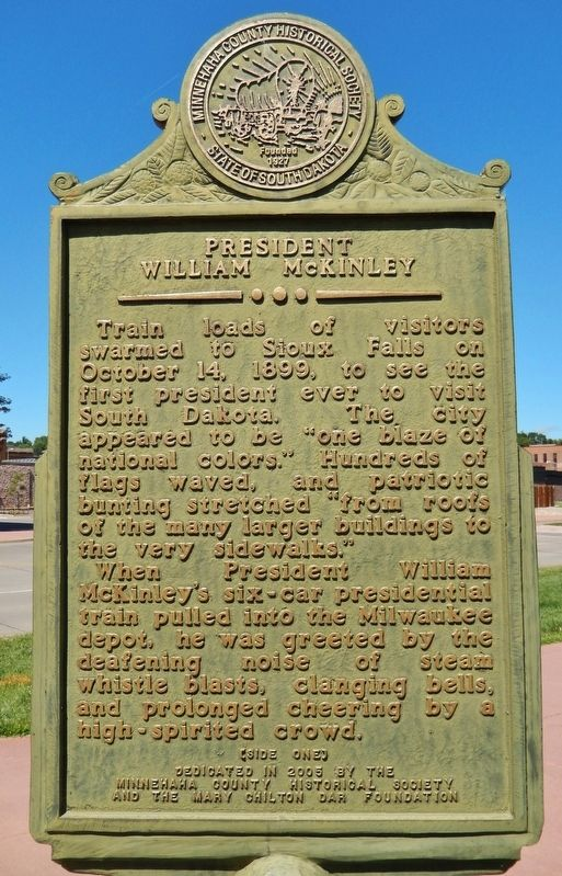 President William McKinley Marker (<i>side one</i>) image. Click for full size.