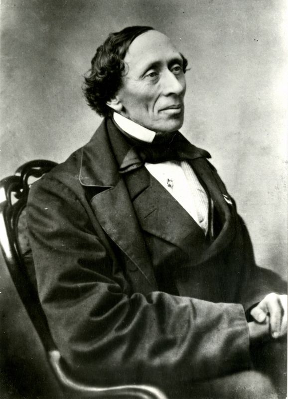 Portrait of Hans Christian Andersen image. Click for full size.