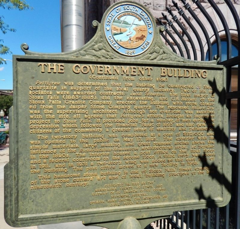 The Government Building Marker (<i>side 2</i>) image. Click for full size.