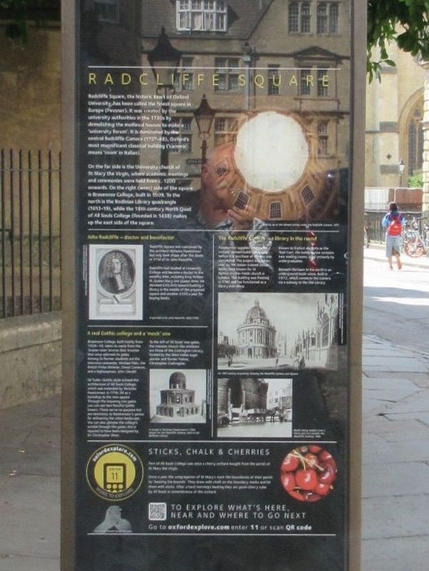Radcliffe Square Marker image. Click for full size.