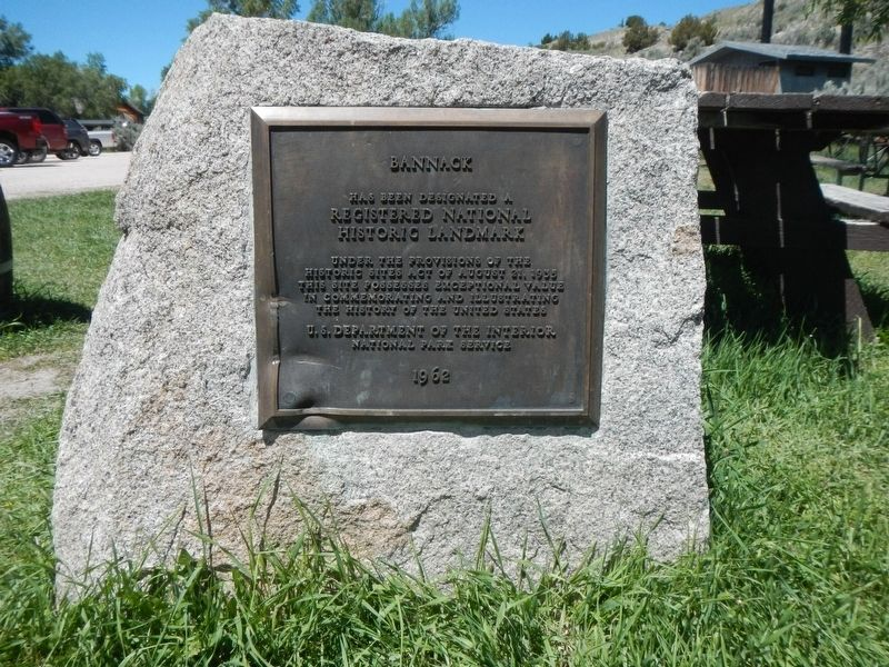 Bannack Historic Landmark plaque image. Click for full size.