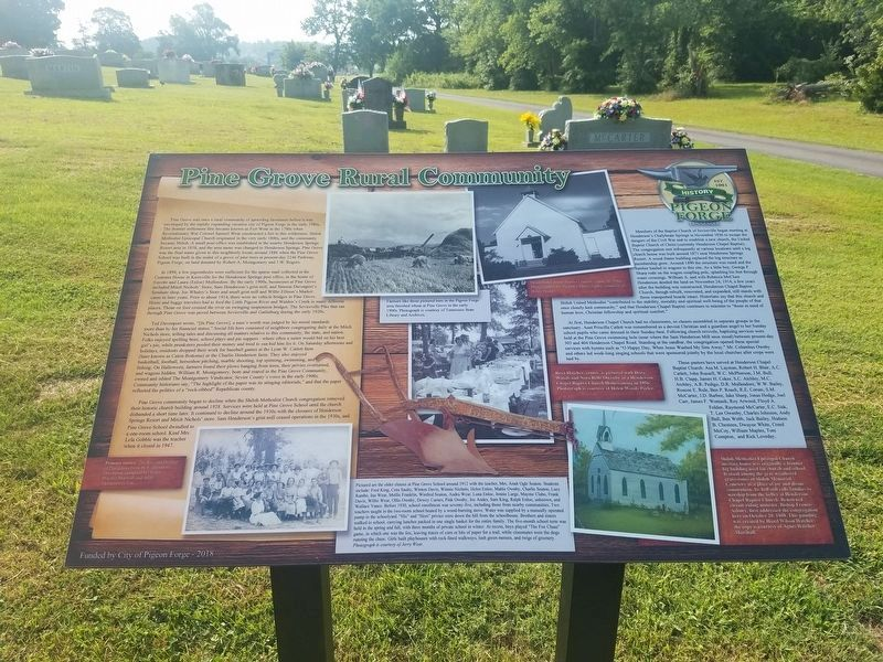 Pine Grove Rural Community Marker image. Click for full size.