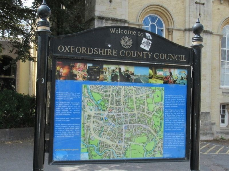 Oxfordshire County Council Marker image. Click for full size.