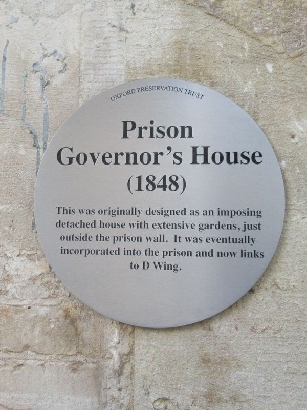 Prison Governor's House Marker image. Click for full size.