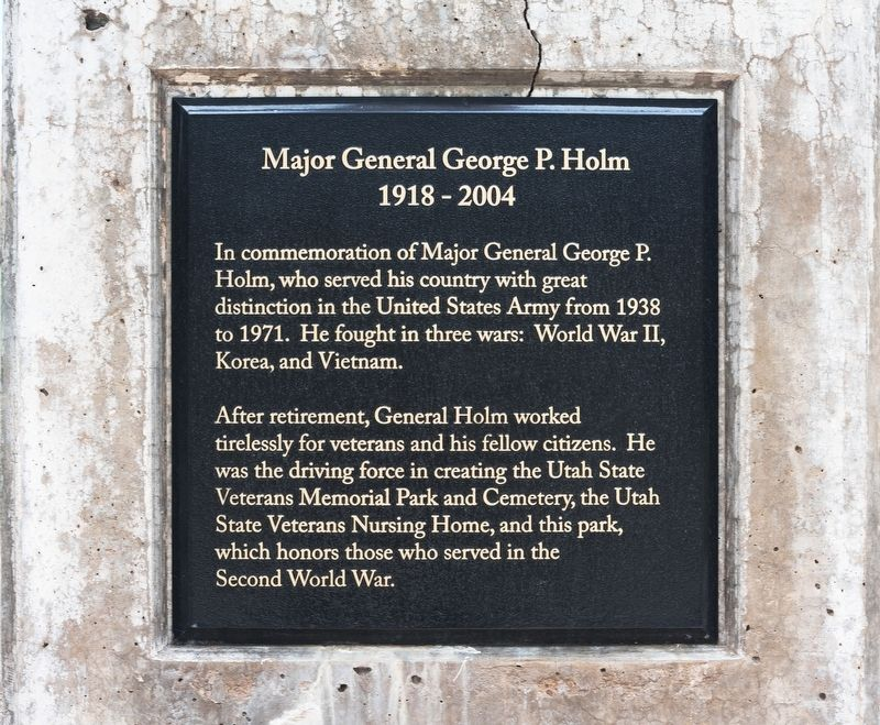 Major General George P. Holm Marker image. Click for full size.