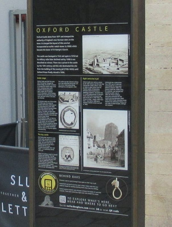 Oxford Castle Marker image. Click for full size.