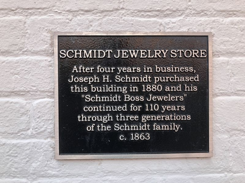 Schmidt Jewelry Store Marker image. Click for full size.