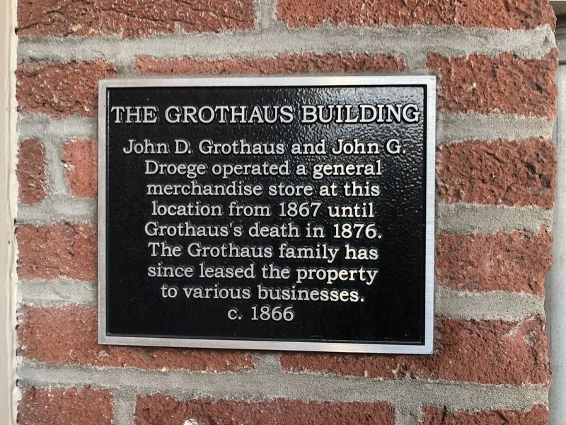 The Grothaus Building Marker image. Click for full size.