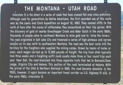 The Montana-Utah Road Marker image. Click for full size.