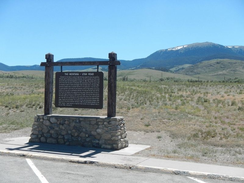 The Montana-Utah Road Marker image, Touch for more information