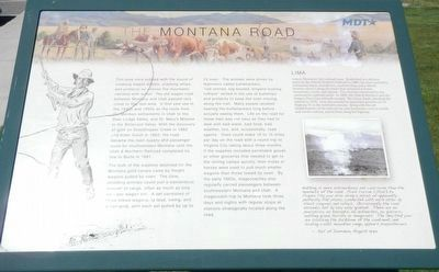 The Montana Road Marker image. Click for full size.