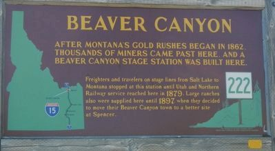Beaver Canyon Marker image. Click for full size.