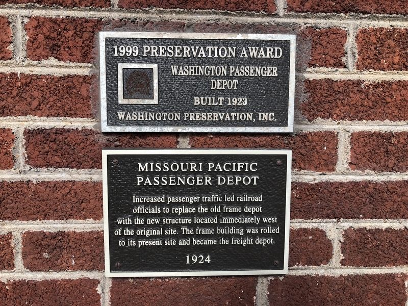 Missouri Pacific Passenger Depot Marker image. Click for full size.