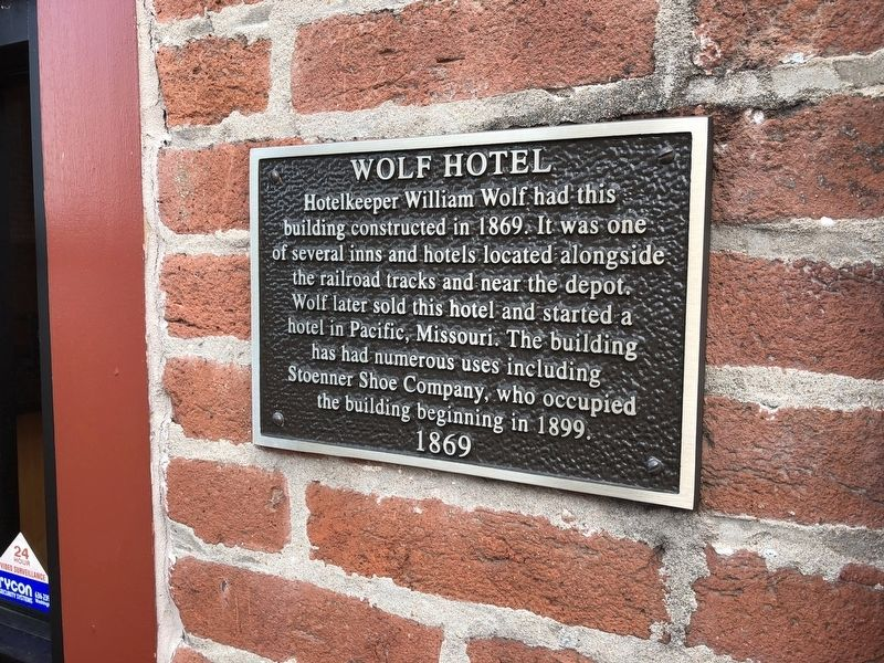 Wolf Hotel Marker image. Click for full size.