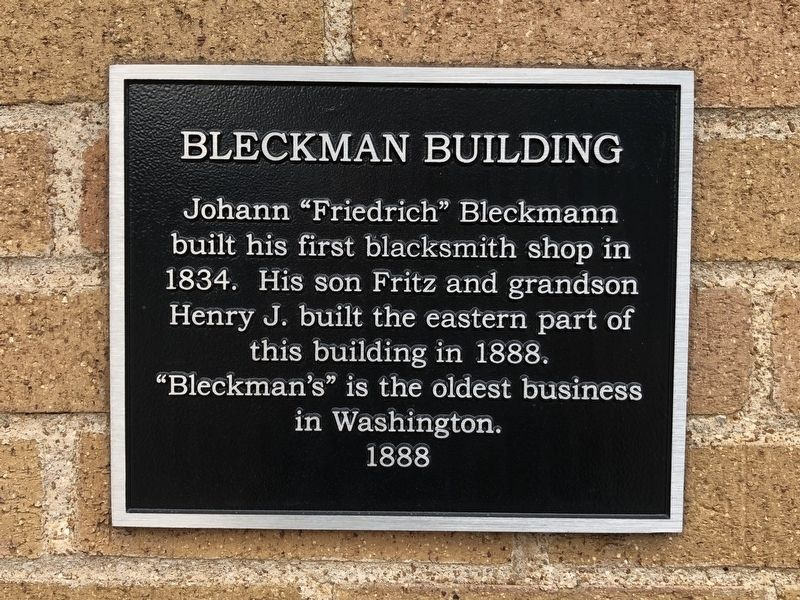 Bleckman Building Marker image. Click for full size.