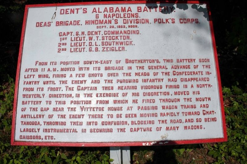Dent's Alabama Battery Marker image. Click for full size.