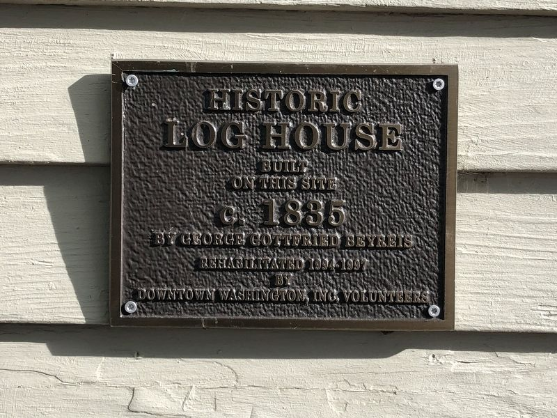 Historic Log House Marker image. Click for full size.