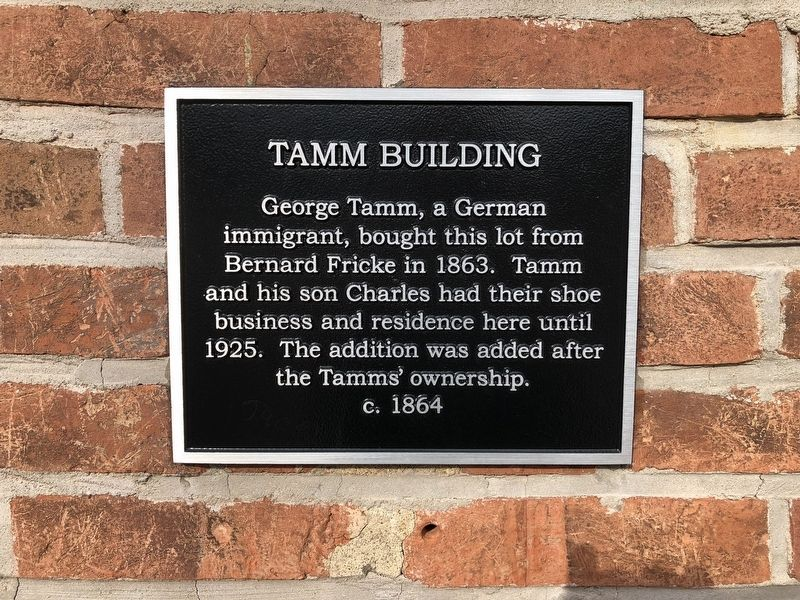 Tamm Building Marker image. Click for full size.