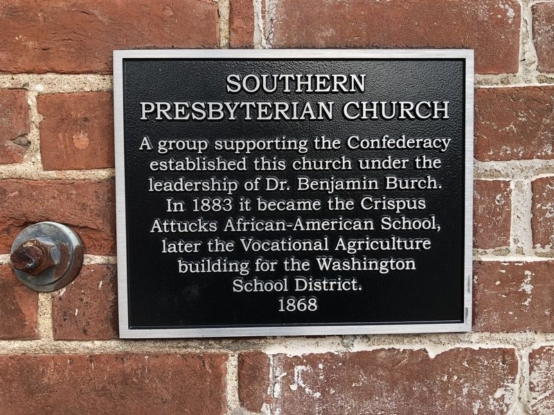 Southern Presbyterian Church Marker image. Click for full size.